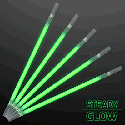 Green Glow Drinking Straws Pack of 25: Toys & Games