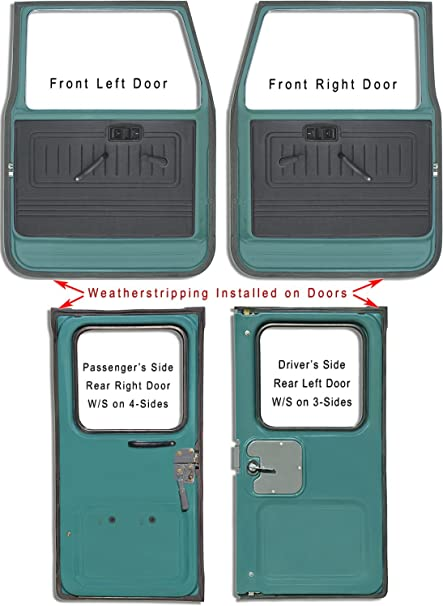 CoolCruisers Door Weatherstrips Set of 4 Fits TOYOTA LAND CRUISER FJ40 FJ43 FJ45 BJ40  sc 1 st  Amazon.com & Amazon.com: CoolCruisers Door Weatherstrips Set of 4 Fits TOYOTA ...