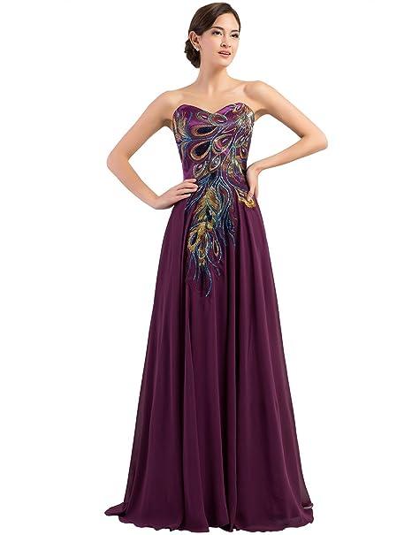 Quissmoda vestido corto largo fiesta, noche, gala, talla 34, color morado