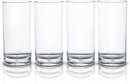 Modern Innovations Juego de 4 vasos de material SAN acrílico, de ...