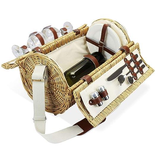 Home Innovation - Cesta de Picnic para 2 cestas de Mimbre ...