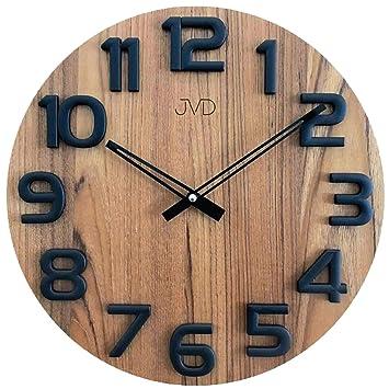 Clockvilla Hettich Uhren Design Wanduhr Holz Eiche 40 Cm