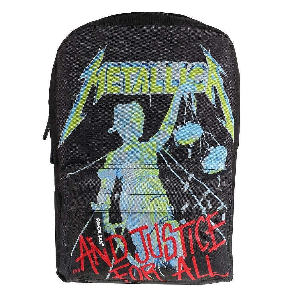 Rock Sax Metallica Justice For All Black Mochila y estuche ...