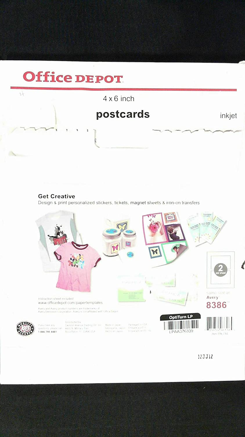 Amazon.com : Office Depot Inkjet Postcards, 4in. x 6in., Glossy, 2 Cards  Per Sheet, Pack Of 100, 983185 : Brochure Paper : Office Products