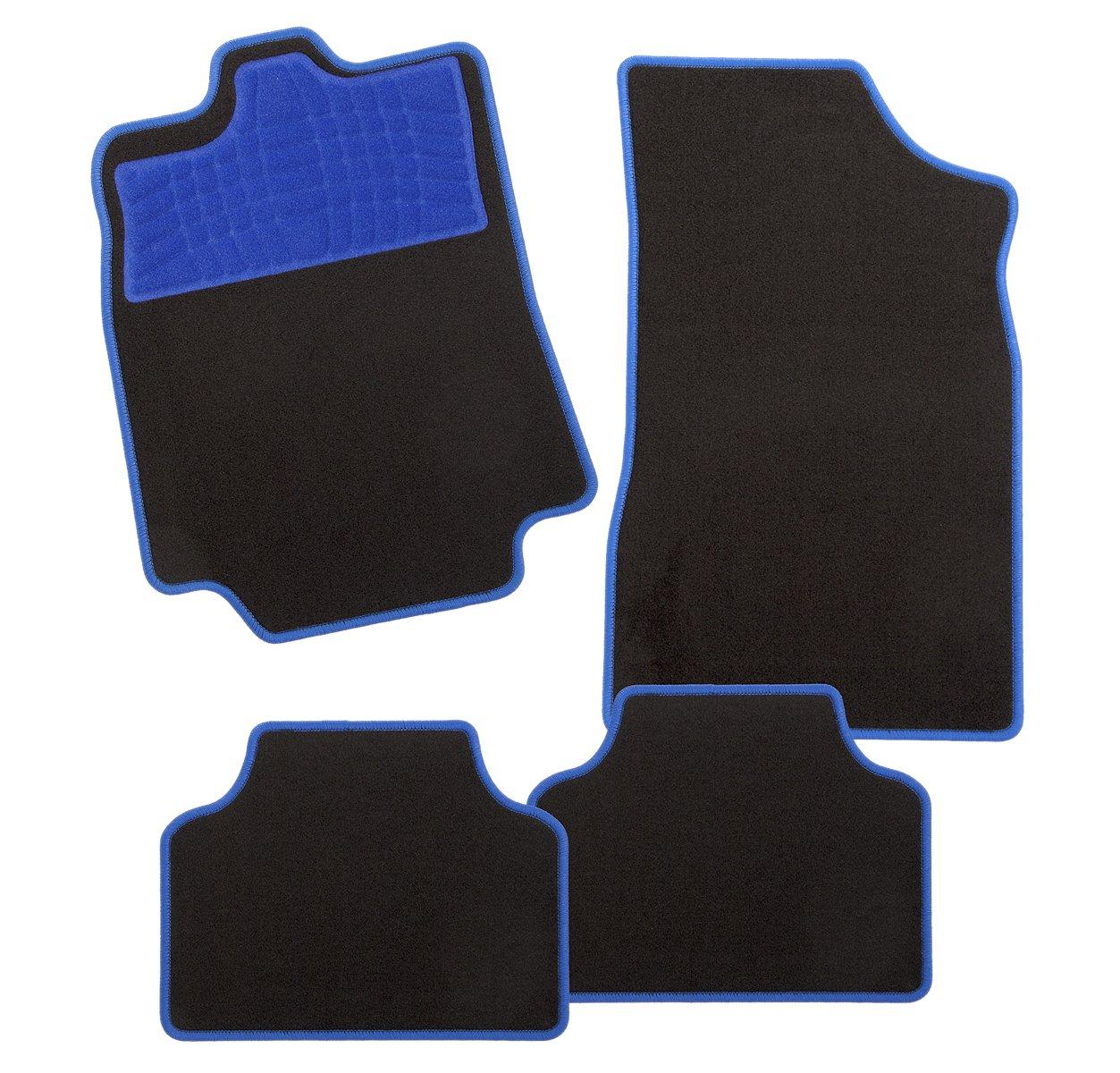 4/piezas CarFashion 243506 Juego de alfombrillas Azul