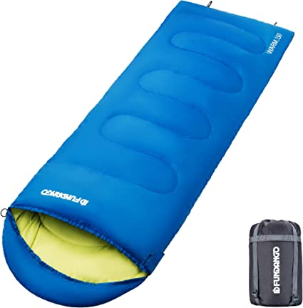 Travel Kids Girl Women for Adults 87//7.2ft L x 30 W Hiking Men Backpacking,Camping FUNDANGO 3-in-1 Warm /& Cold Weather Lightweight Compact Portable Waterproof Sleeping Bag Boys