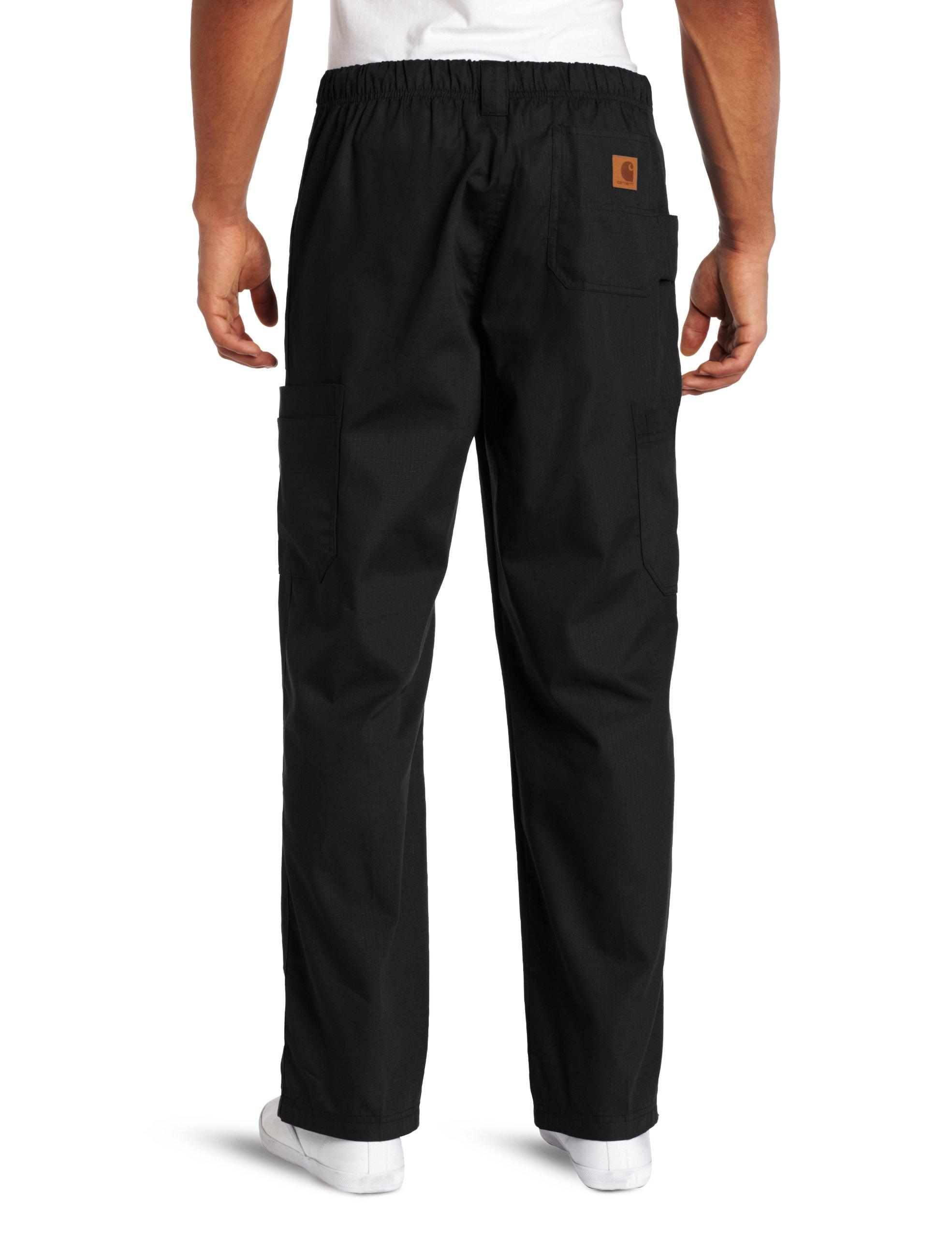 Carhartt Men's Ripstop Multi-Cargo Scrub Pant, Black, Large by Carhartt (Image #2)