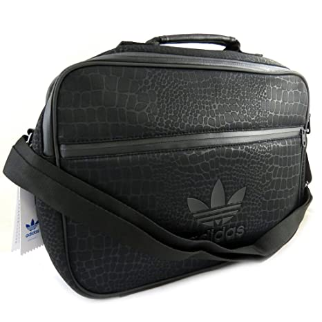 Borsa a tracolla 'Adidas'nero (modello python)mat (40x29x12