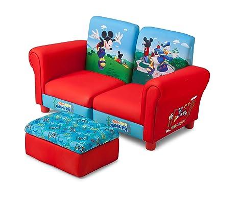 Delta Mickey Mouse de 3 Piezas para niños sofá (Rojo/Azul ...