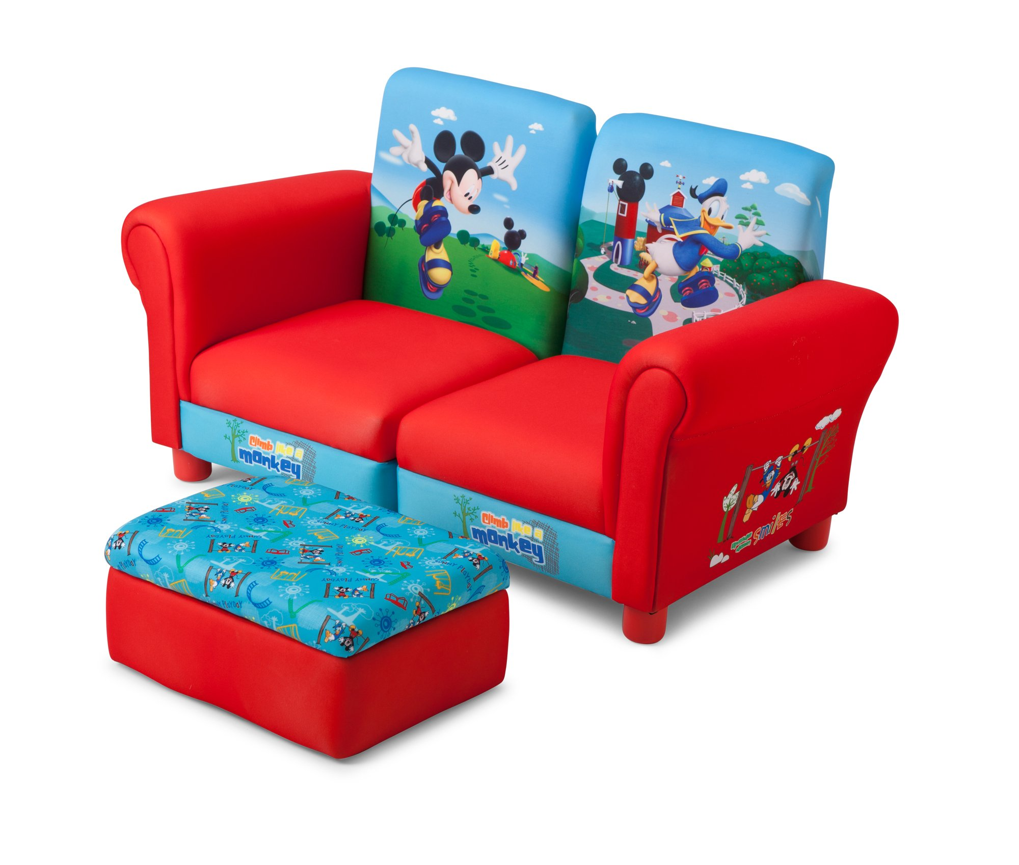 Delta Children's  Products Mickey Mouse Upholstered Sectional Set, 3-Piece