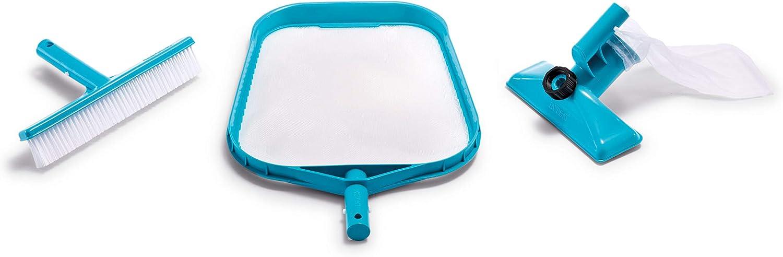 Intex 29057 - Kit de limpieza Deluxe recoge hojas, cepillo y ...