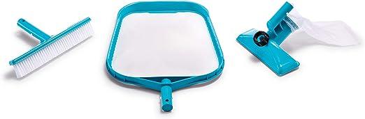 Intex 29056 - Kit de limpieza básico recoge hojas, cepillo y cabezal ...