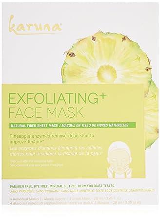 Karuna Exfoilating+ Face Mask Box, 4 CT