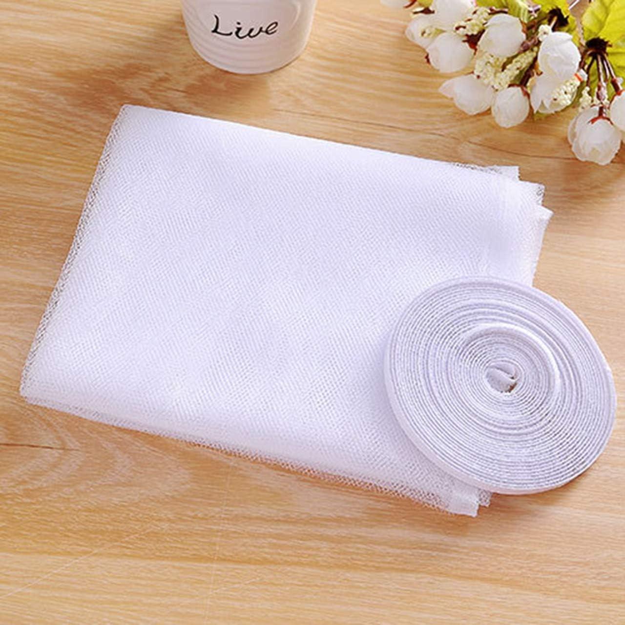 Blanc, 3 Rouleaux de bandes Auto-Adh/ésives et 3 Autocollants de Patch 3 Pack 1,5 x 2 m Moustiquaires Fen/être Anti Moustique Dinsectes Protecteur Kit D/écran en Maille Filet