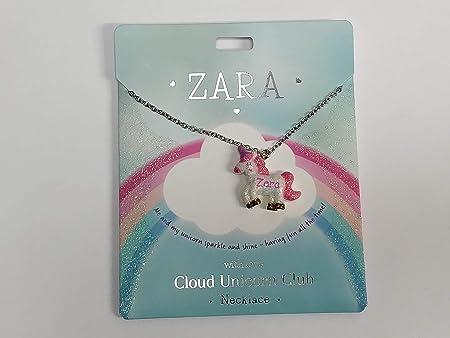 Sterling Effectz Halskette Mit Einhorn Namen Aufschrift Zara