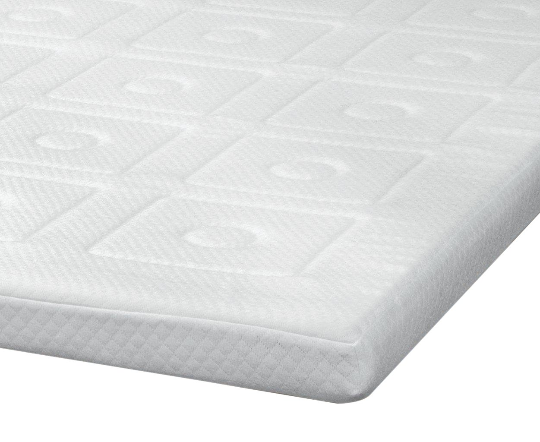 amazoncom sensorpedic luxury 3inch quilted memory foam mattress topper full size white home u0026 kitchen