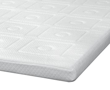 sensorpedic luxury 3inch quilted memory foam mattress topper full size white