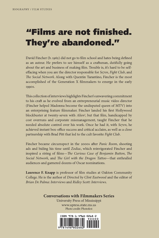 David Fincher: Interviews (conversations With Filmmakers Series): Laurence  F Knapp: 9781496802682: Amazon: Books