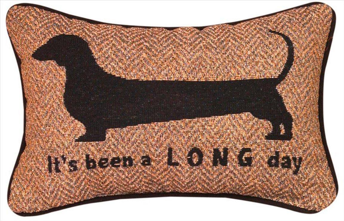 amazoncom home decor  dachshund woven decorative pillow    - amazoncom home decor  dachshund woven decorative pillow   x  dog pillow home  kitchen