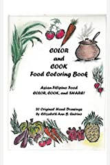 COLOR and COOK Food Coloring Book Paperback