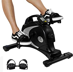 Under Desk Bike Pedal Exerciser - Stationary Magnetic Mini Exercise Bike - Office, Home Equipment Peddler,Cycling Bike,Exercise Bike,Recumbent Exercise Bike,Mini Stepper,Exercise Machines For Home Use