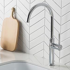 Kraus KPF-1681CH Sellette Kitchen Bar Faucet, 16.5 Inch, Chrome
