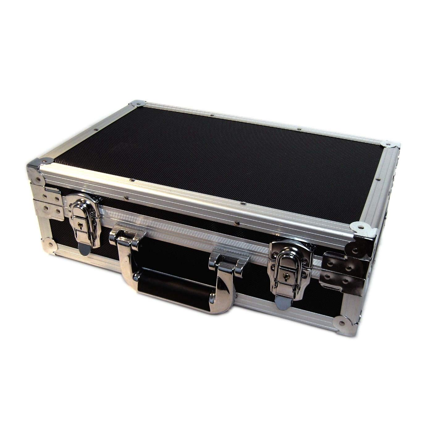 U1 Black Metal Storage Case for Trading Cards TCG Ultra Pro Deck Protector Sleeve Deck Box MTG Magic the Gathering YGO Yugioh Match Attax Board Games Sports Wow Pokemon Toploader Vanguard Carry Cube