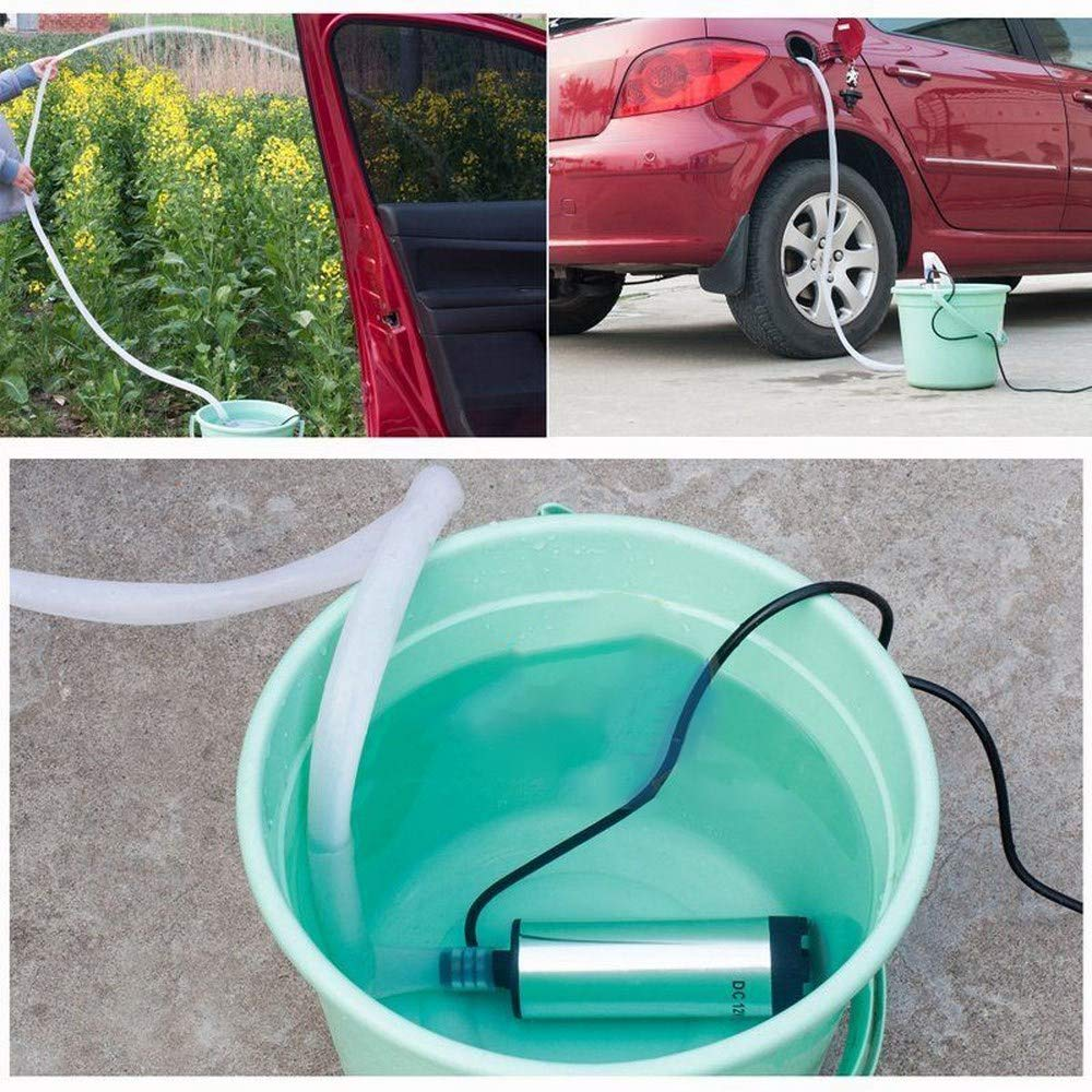 Gardening Use 12 L//min Changli 12V Portable Submersible Water Pump,for Water Oil Diesel Fuel Transfer Campervan Well Aquarium Travelling RV Outdoor Boat