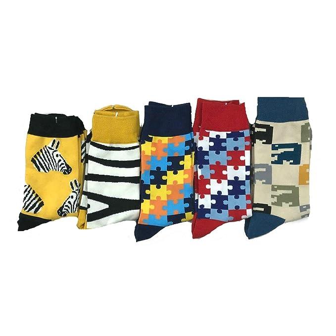 AnaZoz Calcetines Nino Calcetines Estampado Mujer Hombre Calcetines Termicos Colorido