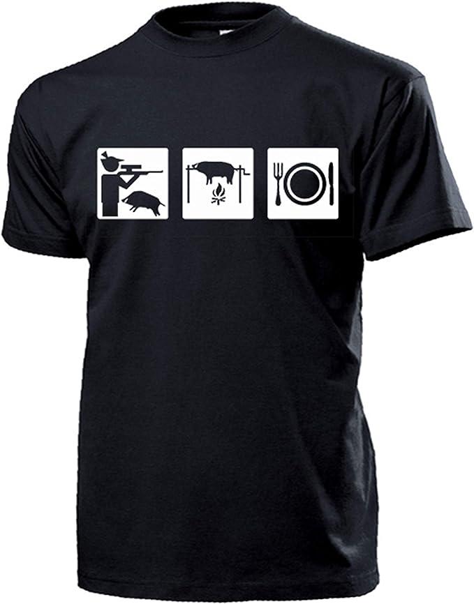 Pictograma cazador Caza Caza Hobby Caza Protección Corzo Jabalí – Camiseta # 16943: Amazon.es: Ropa y accesorios