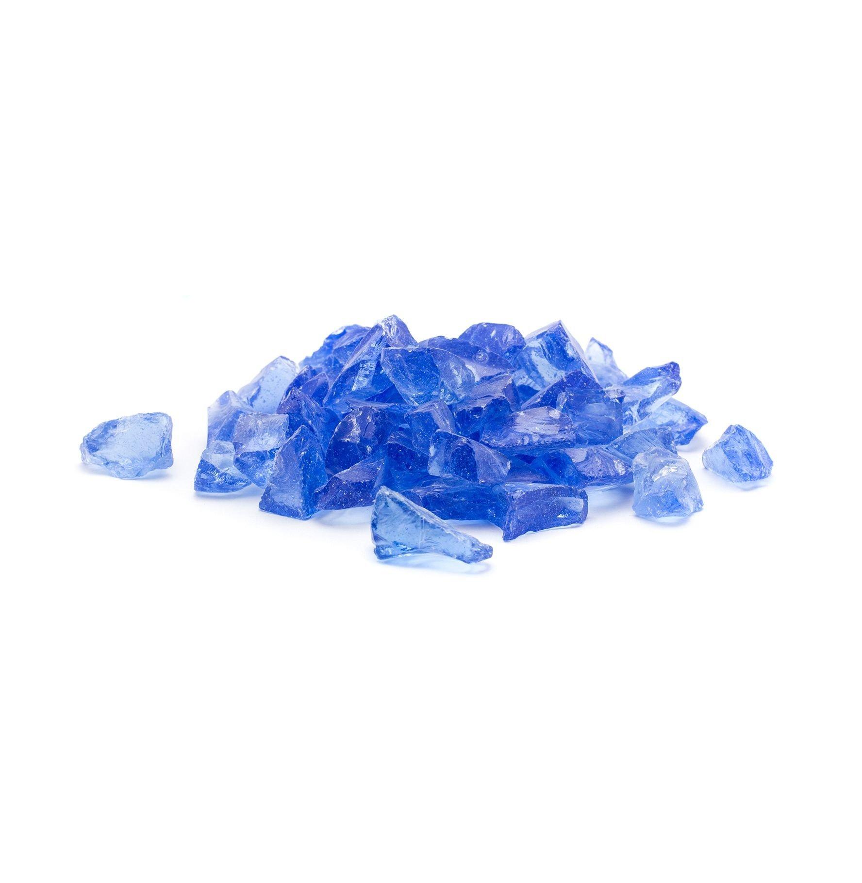 Dragon Glass 25 lb. Medium Light Blue Landscape Glass 1/2''