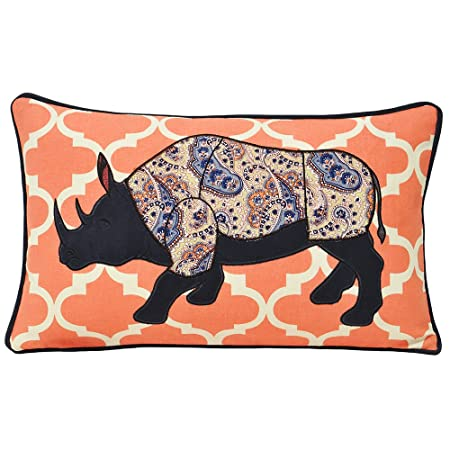 Amazon.com: Paoletti Kruger Rhino - Funda de cojín (11.8 x ...