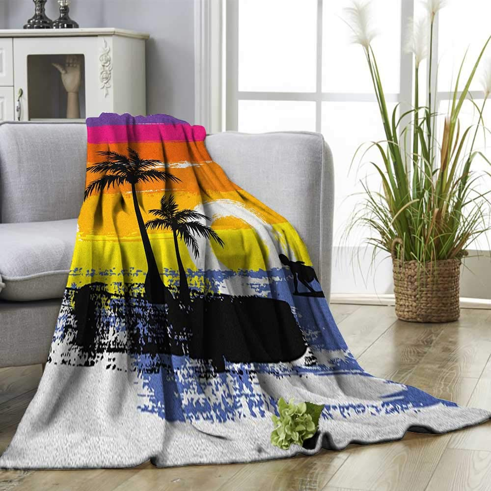 Amazon.com: Ride The Wave Warm Microfiber All Season Blanket ...