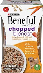 Purina Beneful IncrediBites with Real Chicken, Tomatoes, Carrots & Wild Rice Dog Food 3-3 oz. Cans