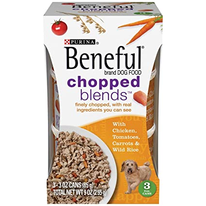 Purina Beneful IncrediBites with Real Chicken, Tomatoes, Carrots & Wild Rice Dog Food 3-3 oz. Cans: Pet Supplies: Amazon.com