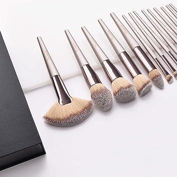 Brochas de Maquillaje, 15pcs Maquillaje Profesional Pinceles ...