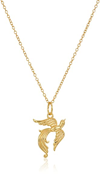 Amazon 18k yellow gold plated sterling silver phoenix pendant 18k yellow gold plated sterling silver phoenix pendant necklace 18quot aloadofball Images