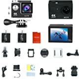 Ultra HD 4K Sports DV H9 2.0 Inch Lcd 170 Degree Wide Lens Waterproof Action Camera Camcorder with Wi-Fi Remote Control (Black)