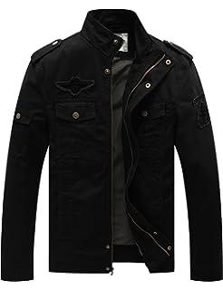 WenVen Mens Fashion Cotton Jackets