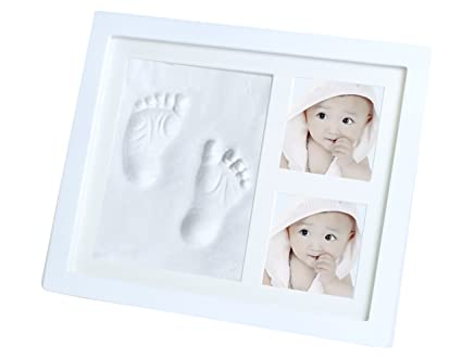Bebé Handprint y huella Kit de Marco de fotos para recién nacido ...