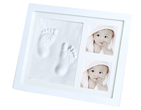 Baby Handprint And Footprint Picture Frame Kit For Newborn Boys And