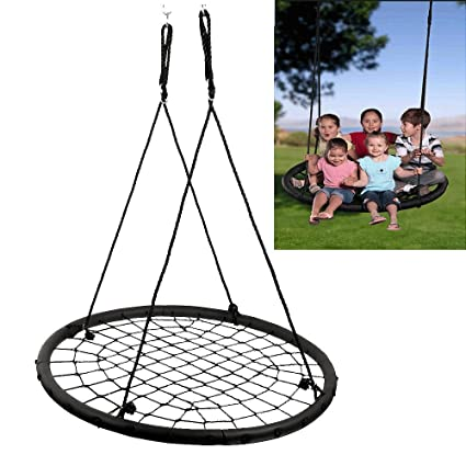 Amazon Com Tree Swing 40 Wide Tree Net Swing Outdoor Spider Web