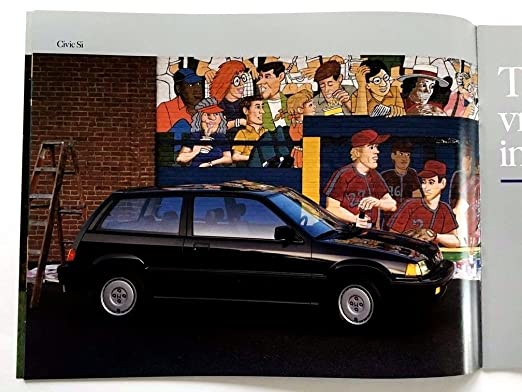 Amazon.com : 1987 Honda Civic and Si and Wagon 30-page Original Car Sales Brochure Catalog : Everything Else
