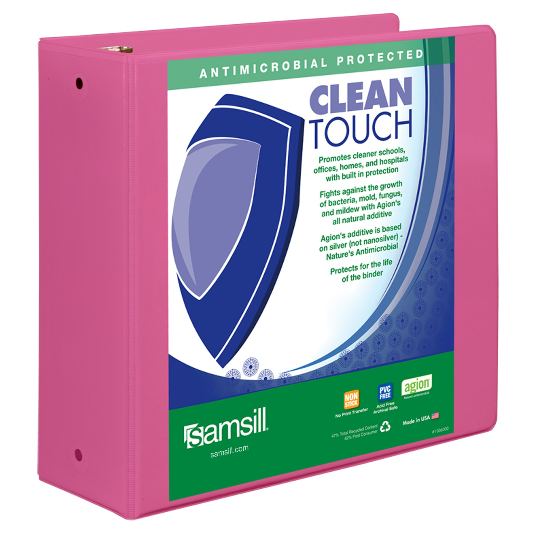 binder 3 ring 4 inch binder clean touch durable view duty binders