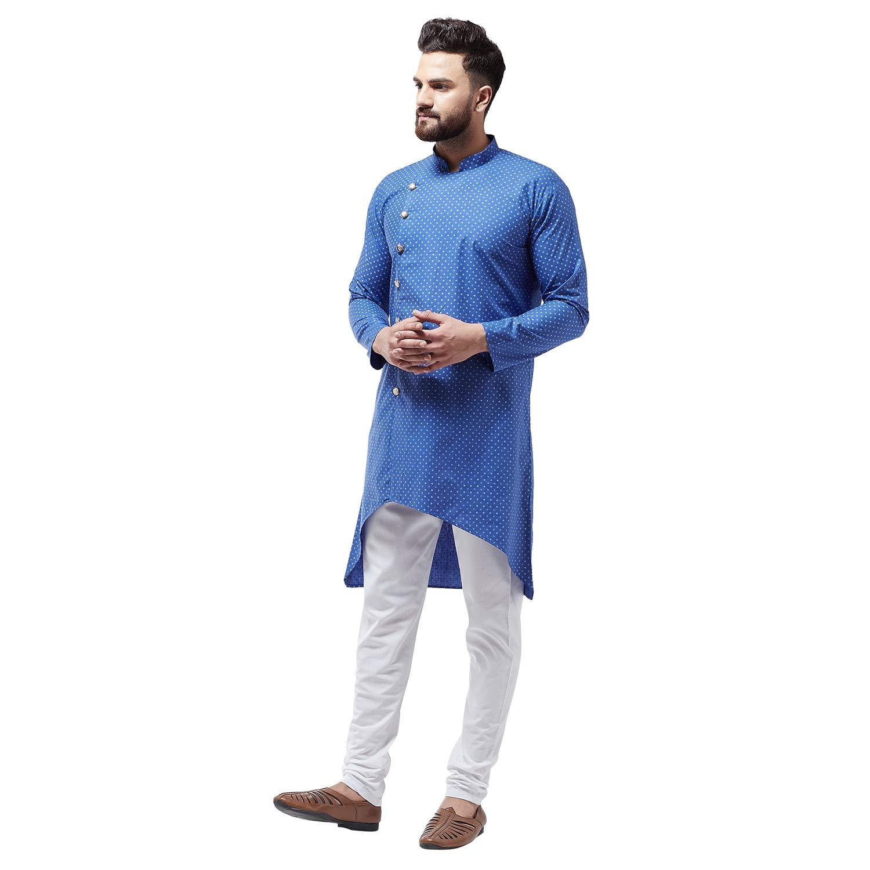 Bollywood-Indian-Kurta-Pajama-Dress-Tunic-Printed-Top-Men-Kurta-Ethnic-Wear thumbnail 9