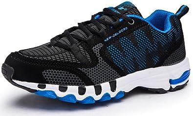 Zapatillas Deportivas de Hombres Mujer, Aire Libre y Deporte Tenis paño Malla pie Ancho Deporte cómodo Respirable 35-48(Recomendar tamaño uno más): Amazon.es: Zapatos y complementos