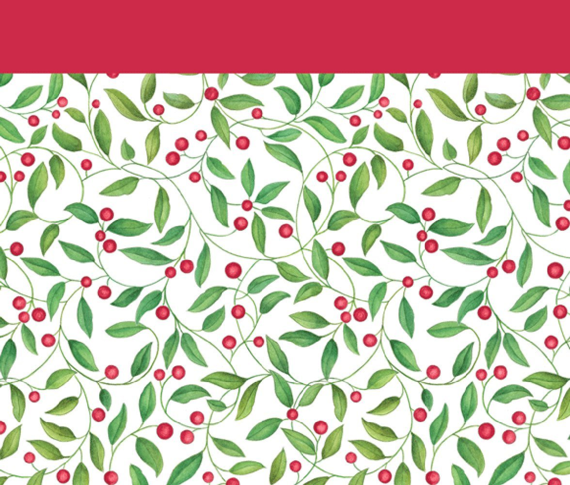 Entertaining with Caspari Leaves And Berries Paper Gift Bag, Large, 1-Count