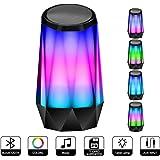 Bluetooth スピーカー ポータブル ブルートゥース4.2 スピーカー おしゃれな外観 高音質 低音強化 5W拡声器 マイク内蔵、LEDライト、AUXケーブル、TFカード、iPhone/iPad/Android/タ ブレットなどに対応