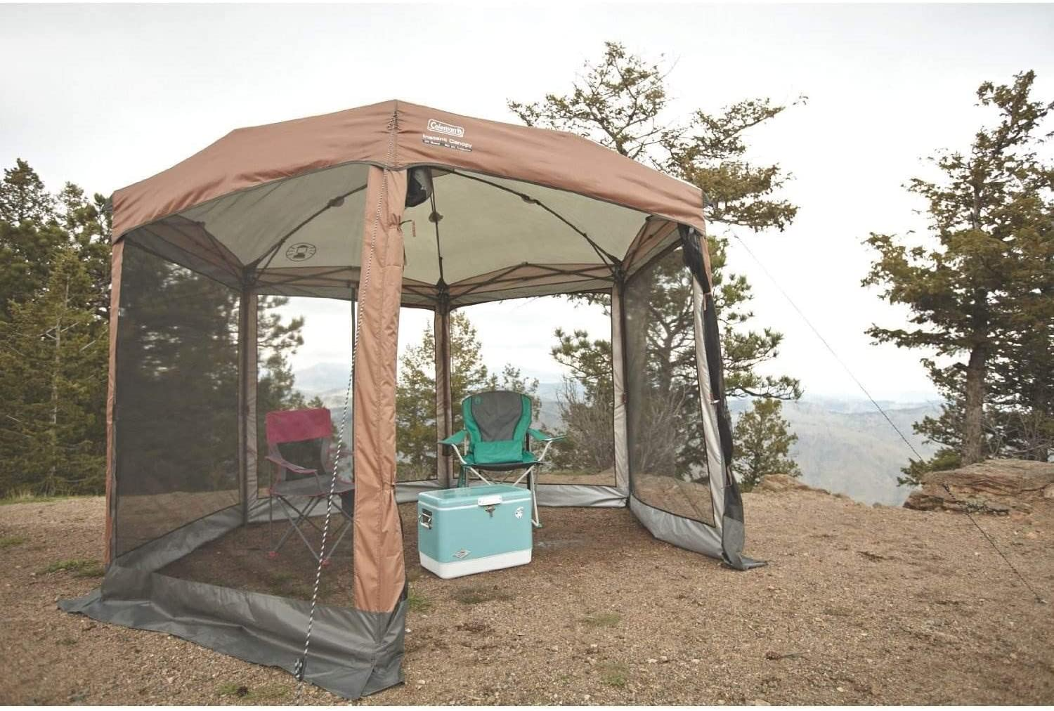 Coleman Screened Canopy Tent with Instant Setup | Back Home Screenhouse Sets Up in 60 Seconds 71ViHJi9biL