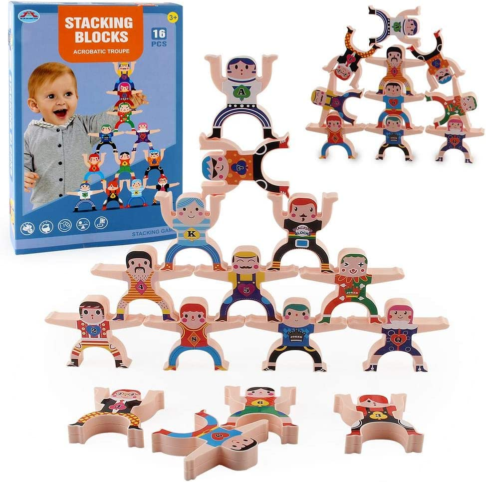 yingmu Plastic Stacking Games Home Decor Hercules Balancing Toys Game Acrobatic Troupe Interlock Blocks Toddler Educational Stacked Development Toy For Kids Adults